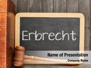 Erbrecht german word (inheritance law)
