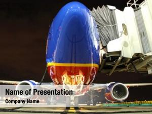 Plane southwest airlines gate night