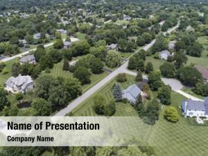 Luxury aerial view neighborhood mature