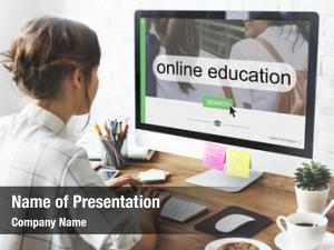 Online distance learning search interface