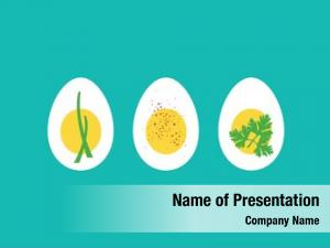 Boiled trio hard egg horderves,