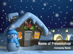 Christmas illustration house theme