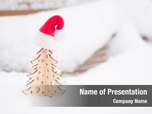 Postcard merry christmas santa hat