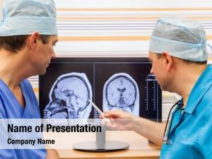 Examining two doctors mri scan