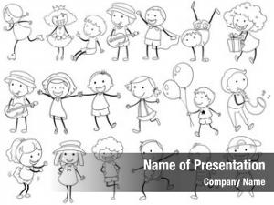 Kid illustration simple doodle actions