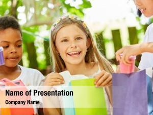 Happy happy girl present childrens