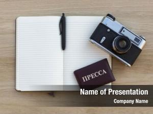 Film notepad pen, camera press