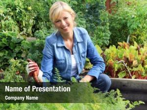 Woman smiling caucasian gardener her