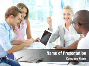 Businesspeople group friendly having meeting