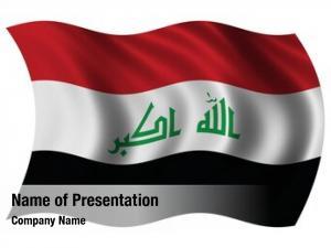 Waving iraq flag wind new