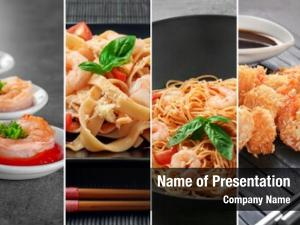 Different collage recipes shrimp dishes