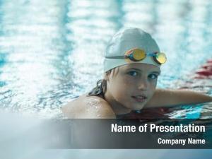 Competitive child portrait swimming