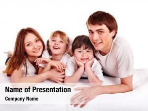 Children happy family