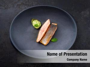 Salmon minimalistic design fish filet
