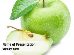 Apple ripe green apple slice