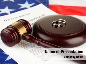 Wooden divorce decree gavel american