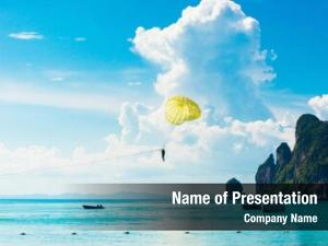 Parachute parasailing sky fun