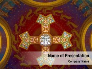 Church painting glass painting ceiling