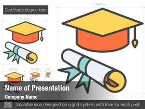 Certificate degree powerpoint template