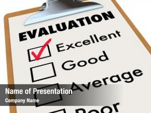 Card evaluation report easel checkmark