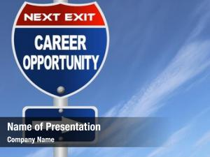 Road career opportunity sign