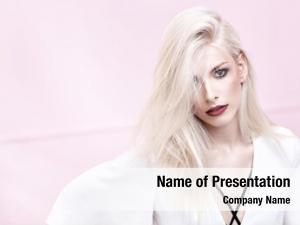 Blonde portrait fashionable woman