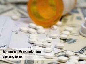 Pills bottle prescription over dollar