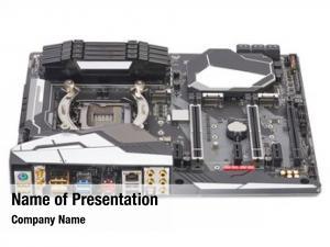 Computer backside connectors mainboard