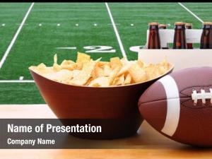 Six chips, football pack beer