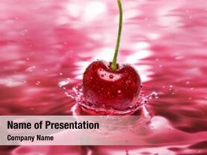 Splash cherry drink close