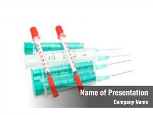 White selection syringes