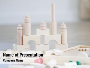 Bulding noname wooden blocks, building
