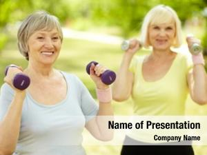 Ladies healthy senior keeping fit
