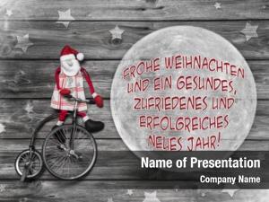 Greeting german christmas card text