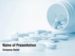 Bottle white tablets