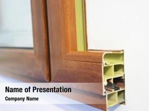 Window cross section design pvc