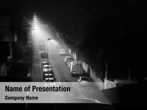 Foggy empty street night bayonne,