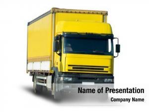 Truck yellow cargo