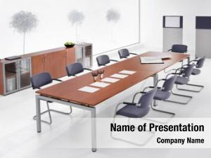 Interior, minimal office meeting room,