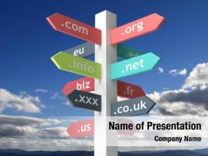 Names signpost domain blue sky