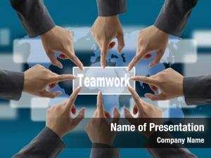 Teamwork diverse business world business