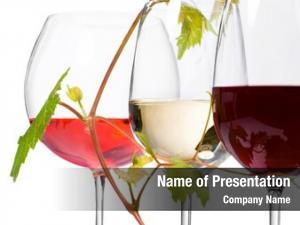 Wine three glasses white