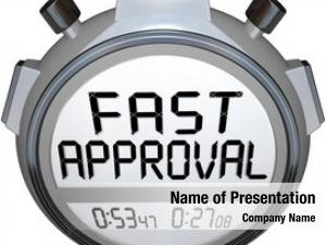 Approval words fast stopwatch timer