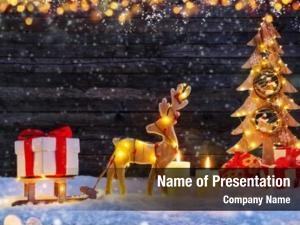 Moose christmas illuminated christmas tree