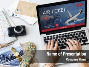Flight air ticket booking concept