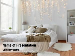 Interior coziness, comfort, holidays concept