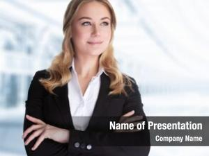 Woman confident business standing office,