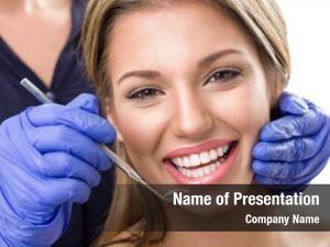 Dentist, teeth checkup smiling woman