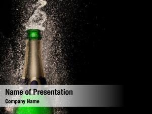 Black champagne explosion celebration theme