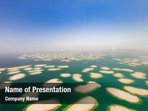 Artificial aerial view world island